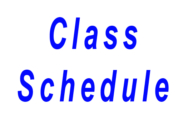 Class Schedule for website